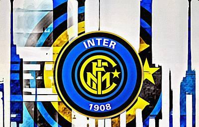 Painting - Inter Milan Poster Art by Florian Rodarte