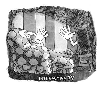 Interactive Tv Art Print by Gahan Wilson