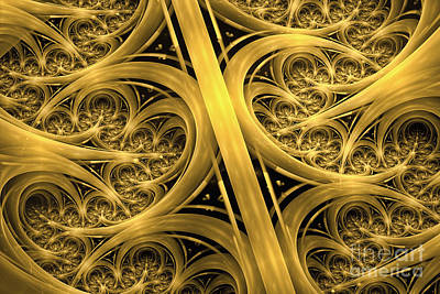 Abstract Shapes Digital Art - Interchange by John Edwards