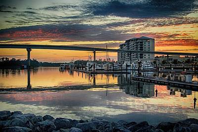 Intercoastal Waterway And The Wharf Art Print