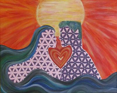 Painting - Interconnectedness Of Love by Dianne Furphy