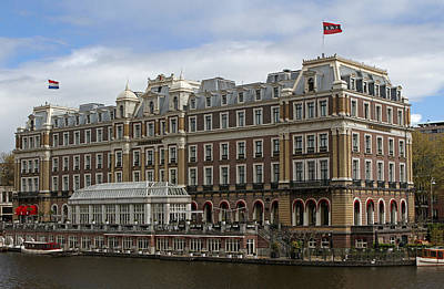 Photograph - Intercontinental Amstel Amsterdam Hotel by Juergen Roth