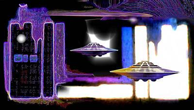 Intergalactic Painting - Interdimensional  Stargate by Hartmut Jager