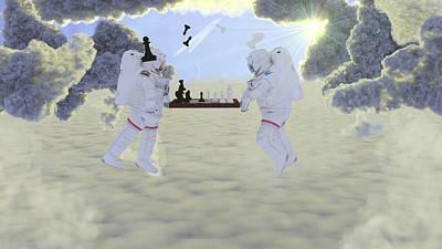 Intergalactic Chess Art Print