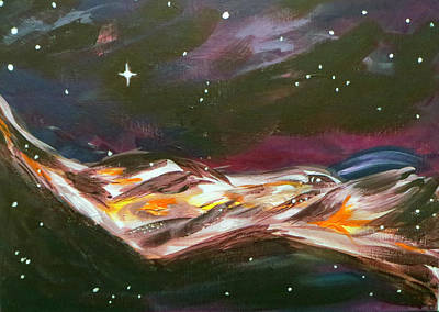 Telepathy Painting - Telepathic Intergalactic Highway by Janice Stork