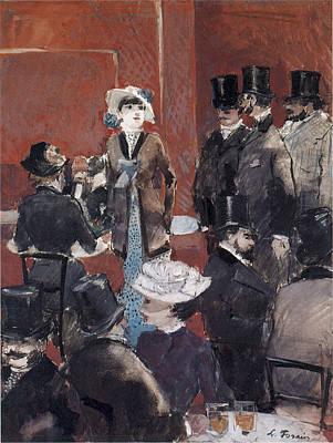 Painting - Interieur De Cafe by Jean-Louis Forain