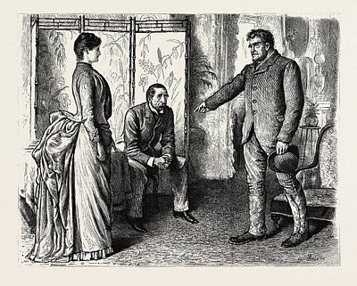 Cartoonist Drawing - Interior, 1888 Engraving by Du Maurier, George L. (1834-97), English