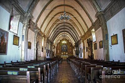 Interior Basilica Carmel Mission Art Print by RicardMN Photography