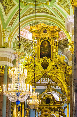 Interior - Cathedral Of Saints Peter And Paul - St Petersburg Russia Print by Jon Berghoff