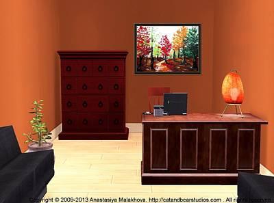 Digital Art - Interior Design Idea - Autumn by Anastasiya Malakhova