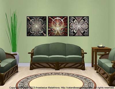 Digital Art - Interior Design Idea - Iron Gate - North Gates - South Gates by Anastasiya Malakhova