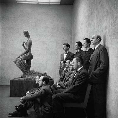 Eames Photograph - Interior Designers At Moma by Cecil Beaton