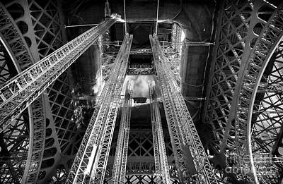 Photograph - Interior Eiffel Tower by John Rizzuto