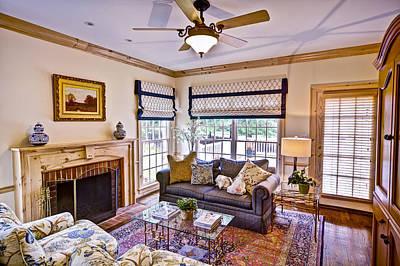 Photograph - Interior Family Room by David Coblitz