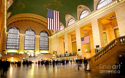 Interior Grand Central Station Art Print by Linda  Parker