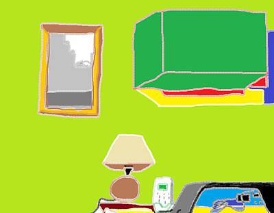 Painting - Interior Kitchen 2 by Anita Dale Livaditis