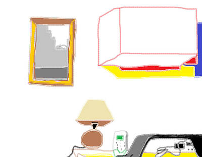 Painting - Interior Kitchen Desk by Anita Dale Livaditis