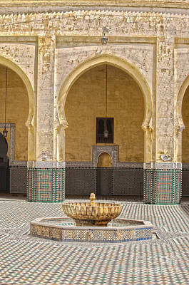 Photograph - Interior Mausoleum Moulay Ismail by Patricia Hofmeester