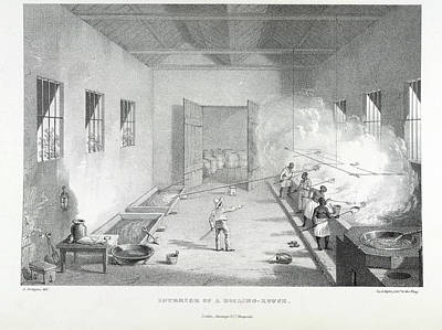 Interior Of A Boiling-house Print by British Library