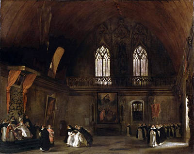 Interior Of A Dominican Convent In Madrid Print by Eugene Delacroix