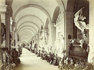 Interior Of A Gallery In The Cemetery Of Staglieno In Genoa Art Print by Artokoloro