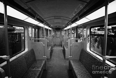 Interior Of A German U-bahn Train Berlin Germany Art Print
