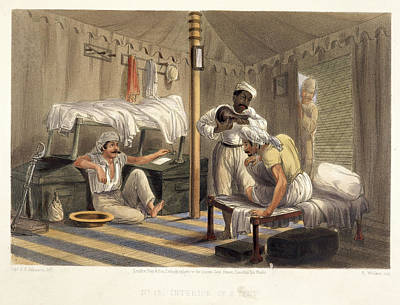 Interior Of A Tent Art Print by British Library