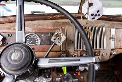 Interior Of An Old Car In A Parade Art Print by Julien Mcroberts