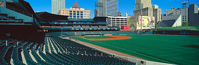 Interior Of Autozone Baseball Park Art Print by Panoramic Images