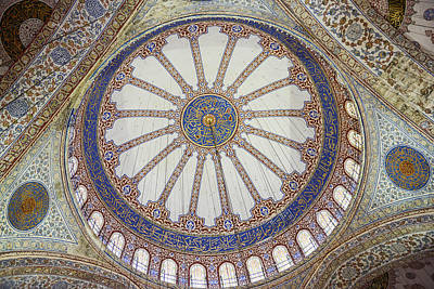 Photograph - Interior Of Blue Mosque In Istanbul Turkey by Brandon Bourdages