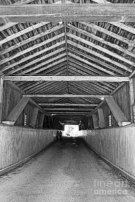 Photograph - Interior Of Covered Bridge by Barbara McMahon