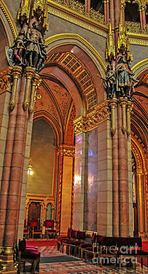 Photograph - Interior Of Hungarian Parliament by Elvis Vaughn