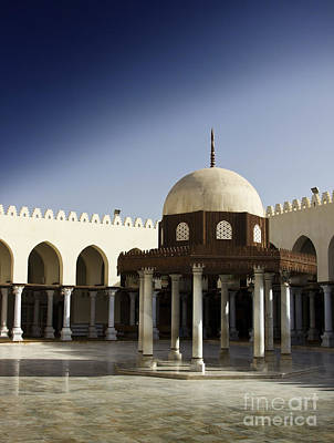 Art Print featuring the photograph Interior Of Islamic Mosque by Mohamed Elkhamisy