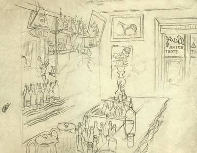 Oscar Digital Art - Interior Of Jack Mccann's Bar by Carl Oscar August Erickson