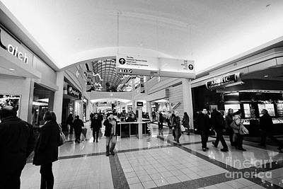 interior of metropolis at metrotown shopping mall Vancouver BC Canada Art Print by Joe Fox