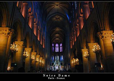 Photograph - Interior Of Notre Dame De Paris by Dany Lison