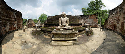 Interior Of Polonnaruwa Vatadage Art Print by Panoramic Images