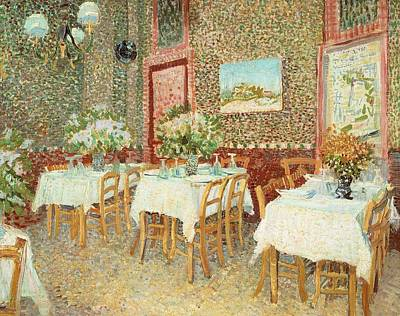Friendly Painting - Interior Of Restaurant by Vincent van Gogh