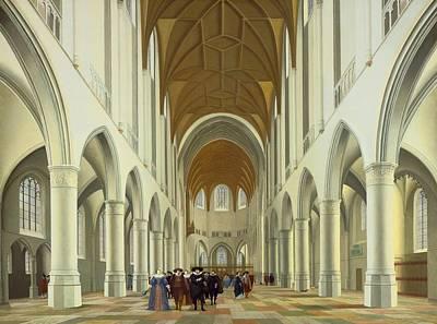 Interior Of Saint Bavo Art Print by Pieter Jansz Saenredam