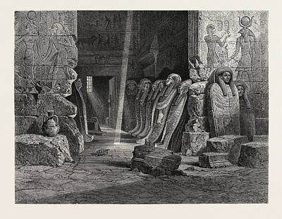 Ape Drawing - Interior Of The Ape-t Temple At Karnak by Litz Collection