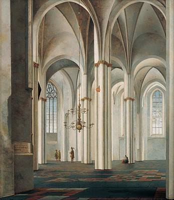 Interior Of The Buurkerk Art Print