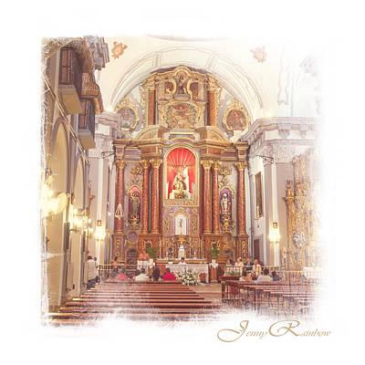 Photograph - Interior Of The Church In Ronda. Spain by Jenny Rainbow