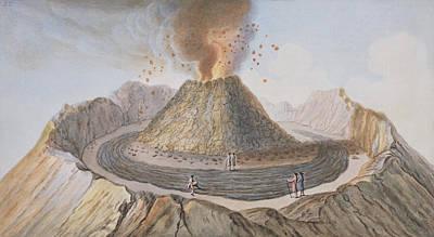 Interior Of The Cone Of Vesuvius Before Art Print