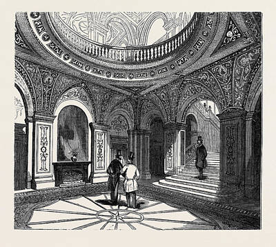Conservative Drawing - Interior Of The Conservative Club House, The Inner Hall by English School