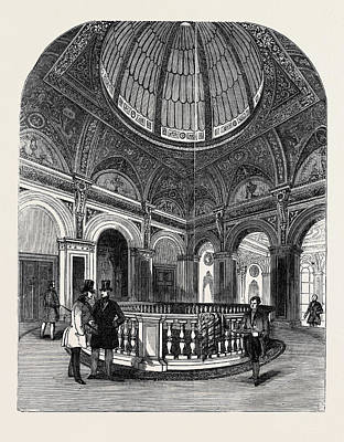 Conservative Drawing - Interior Of The Conservative Club House, The Upper Vestibule by English School