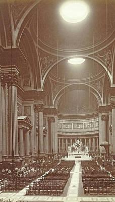 Interior Of The Eglise De La Madeleine In Paris Art Print