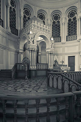 Byzantine Photograph - Interior Of The Grand Choral Synagogue by Panoramic Images