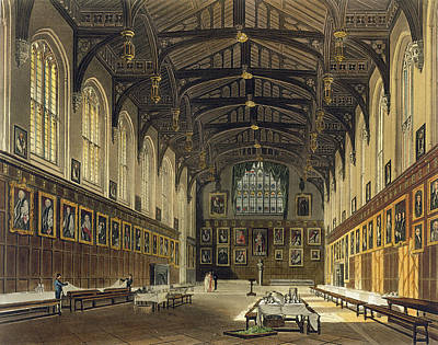 Interior Of The Hall Of Christ Church Art Print