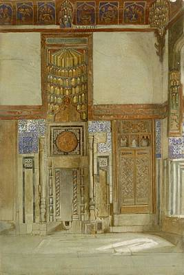 Islam Drawing - Interior Of The House Of The Mufti by Frank Dillon