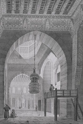North Drawing - Interior Of The Mosque Of Kaid-bey by Pascal Xavier Coste